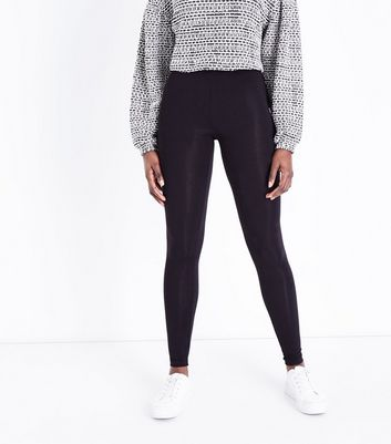 Black Longer Length Leggings New Look