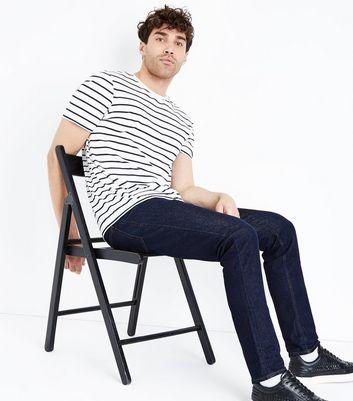 Dark Blue Slim Leg Jeans New Look