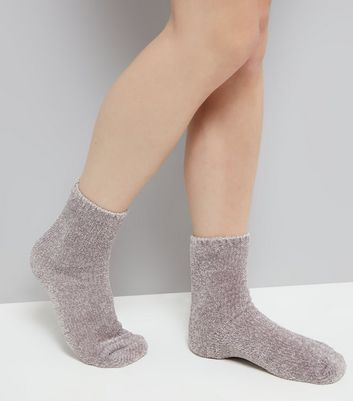 Grey Super Soft Slipper Socks New Look