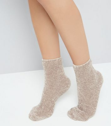 Mink Super Soft Slipper Socks New Look