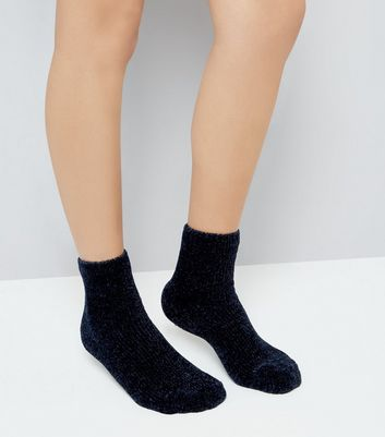Navy Super Soft Slipper Socks New Look
