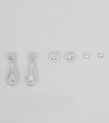 3 Pack Silver Crystal Diamant