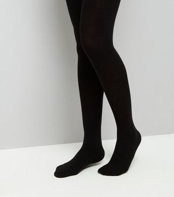 Black Soft Tights New Look