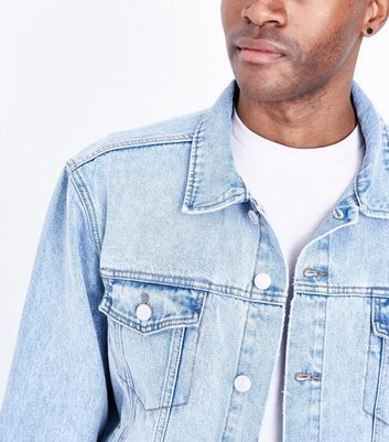 Blue Oversized Denim Jacket New Look