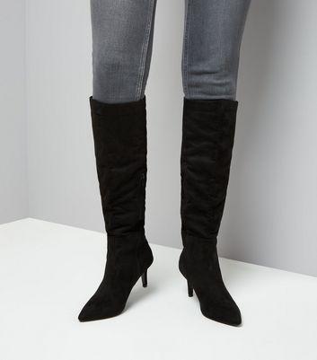 kitten heel knee high boots uk