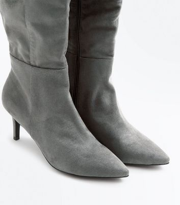 grey-suedette-knee-high-kitten-heel-boots
