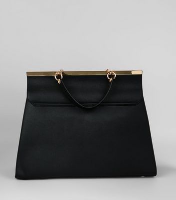 Black Oversized Top Handle Bag New Look