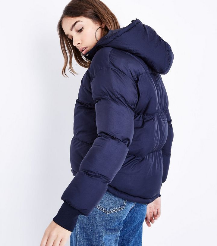 44dc9b520 Blue Vanilla Navy Hooded Cropped Puffer Jacket Add to Saved Items Remove  from Saved Items