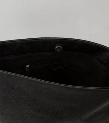 Black Studded Slouchy Shoulder Bag New Look
