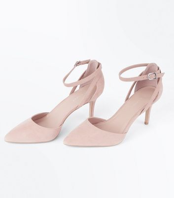 Nude Suedette Cross Over Ankle Strap Courts New Look