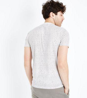 White Stripe Crew Neck T-Shirt New Look