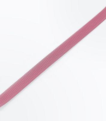 Pink Pastel Mesh Choker New Look