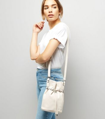Cream Bucket Shoulder Bag New Look