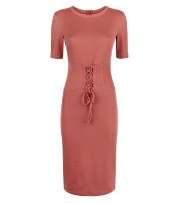 Pink Vanilla Pink Corset Bodycon Dress New Look