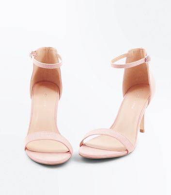 Nude Suedette Stiletto Heeled Sandals New Look