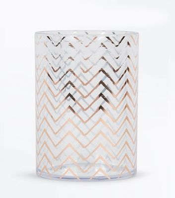 Rose Gold Patterned Cosmetics Pot New Look