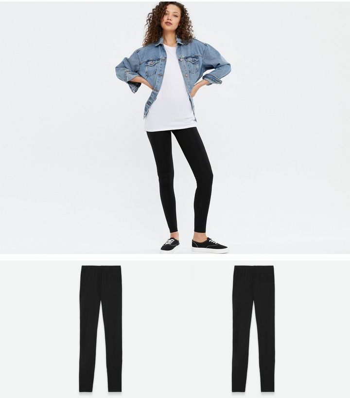 various kinds of rich and magnificent enjoy clearance price Tall 2 Pack Black Long Length Leggings Add to Saved Items Remove from Saved  Items