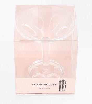 Transparent Cocktail Glass Brush Holder New Look