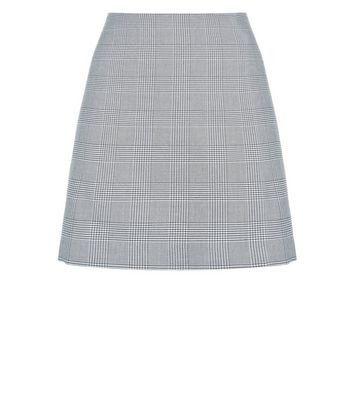 Black Houndstooth Mini Skirt New Look