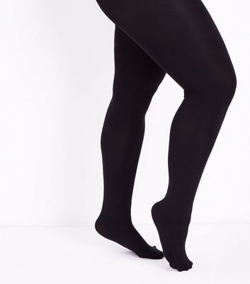 Curves Black 200 Denier Tights New Look