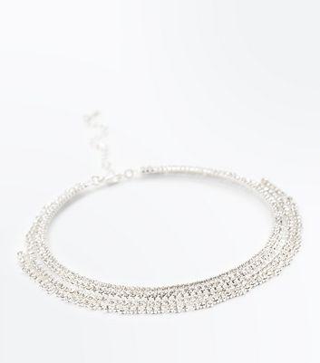 Crystal Gem Drop Torque Necklace New Look