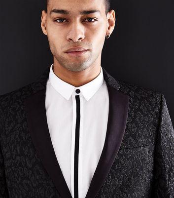Black Glitter Leopard Print Blazer New Look