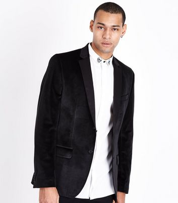 Black Velvet Blazer New Look