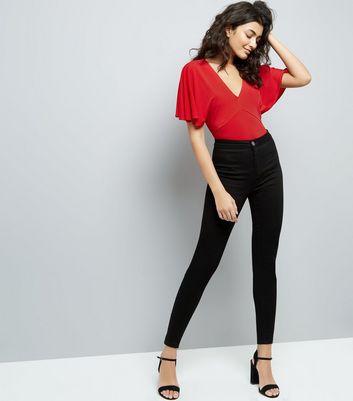 Red Lattice Back Bodysuit New Look