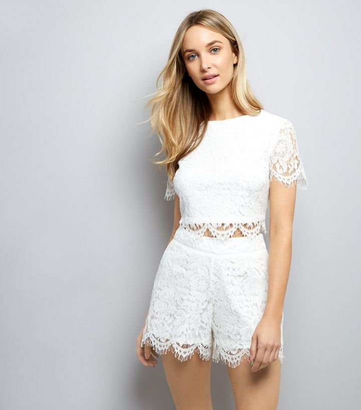 attractive price good new arrive Short blanc en dentelle Ajouter à la Wishlist Supprimer de la Wishlist