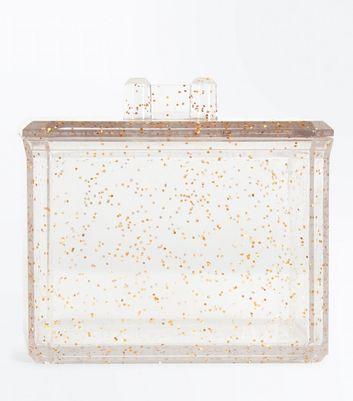 Rose Gold Glitter Square Cosmetics Pot New Look