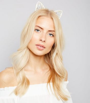 Gold Diamonte and Jewel Cat Ears New Look