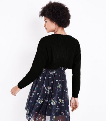 Black Cropped Jumper New Look