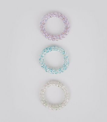3 Pack Glitter Spiral Bobbles New Look
