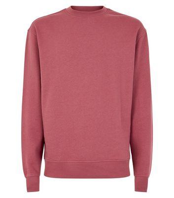 Plum Ribbed Panel Sweatshirt New Look