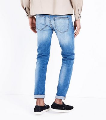 Light Blue Slim Leg Jeans New Look