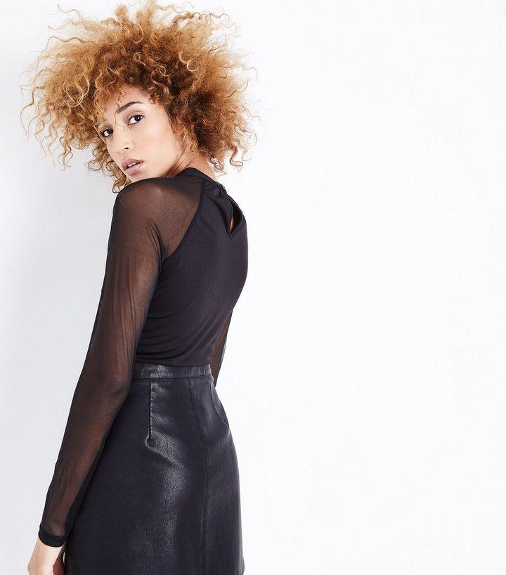 f79dda9c8fd9 ... Pink Vanilla Black Lace Mesh Long Sleeve Bodysuit. ×. ×. ×. Shop the  look