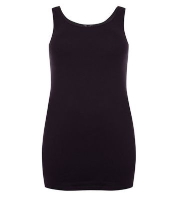 Curves Black Longline Vest Top New Look