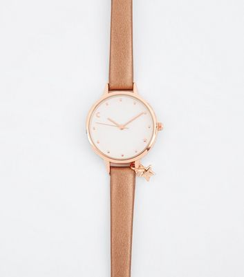Rose Gold Cosmic Charm Watch New Look