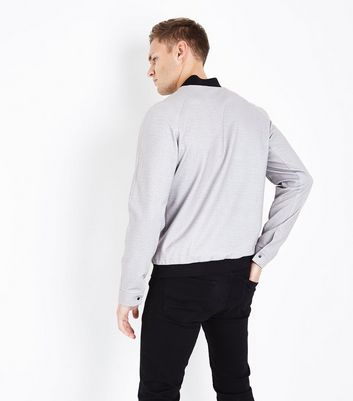 Pale Grey Smart Bomber New Look