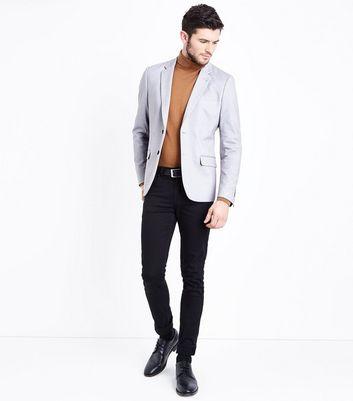 Pale Grey Jersey Blazer New Look
