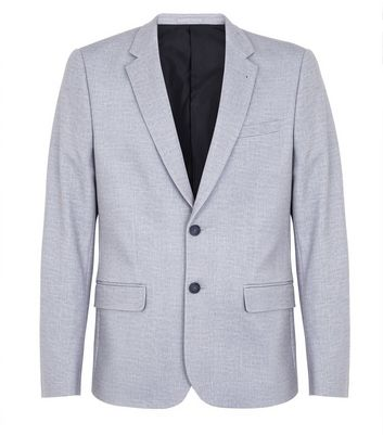 Mid Grey Jersey Blazer New Look