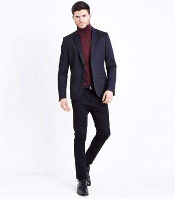 Navy Jersey Blazer New Look