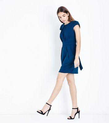 Blue Vanilla Teal Tulip Dress New Look