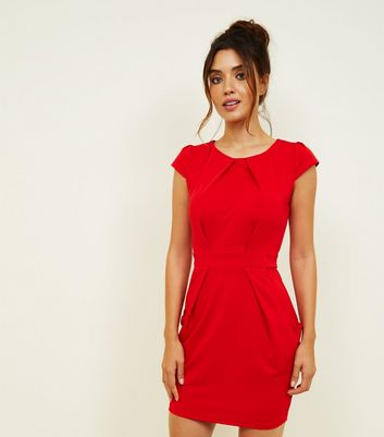 Blue Vanilla Red Tulip Dress New Look