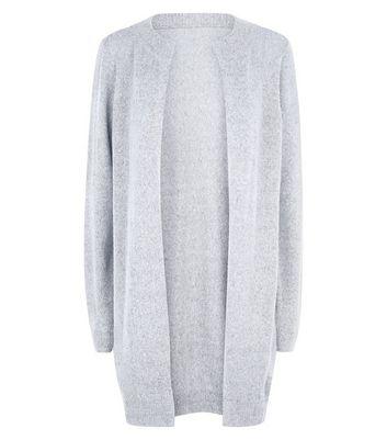 JDY Pale Grey Longline Cardigan New Look