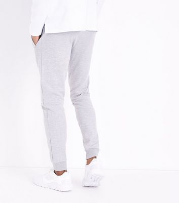 Grey Textured Biker Joggers New Look