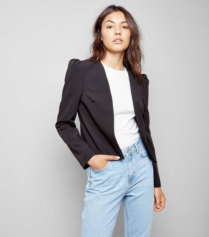 3bc32e3ca50f1 Black Puff Sleeve Blazer | New Look