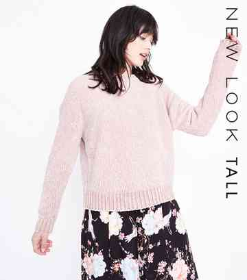 Tall Shell Pink Chenille Jumper