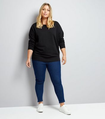 Curves Black Sweater New Look