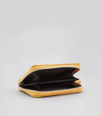 Yellow Patent Cardholder New Look